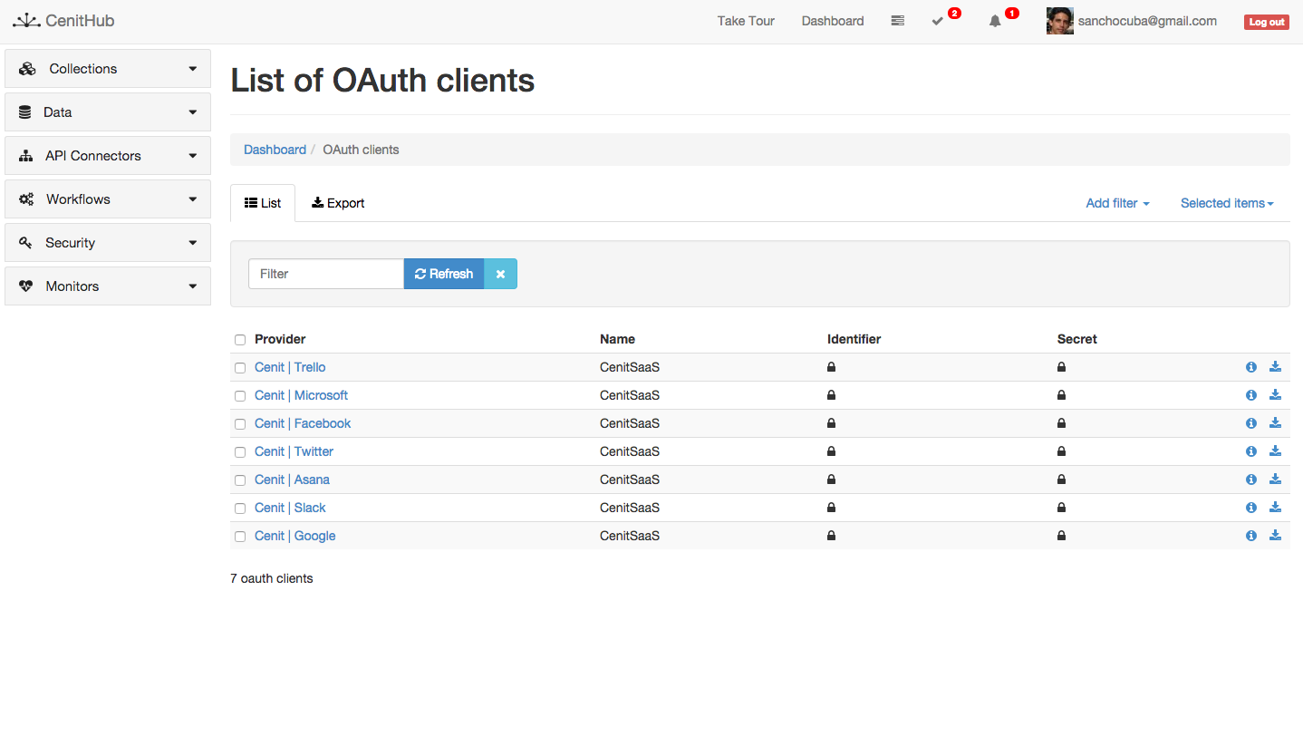 cenit.io Oauth Clients